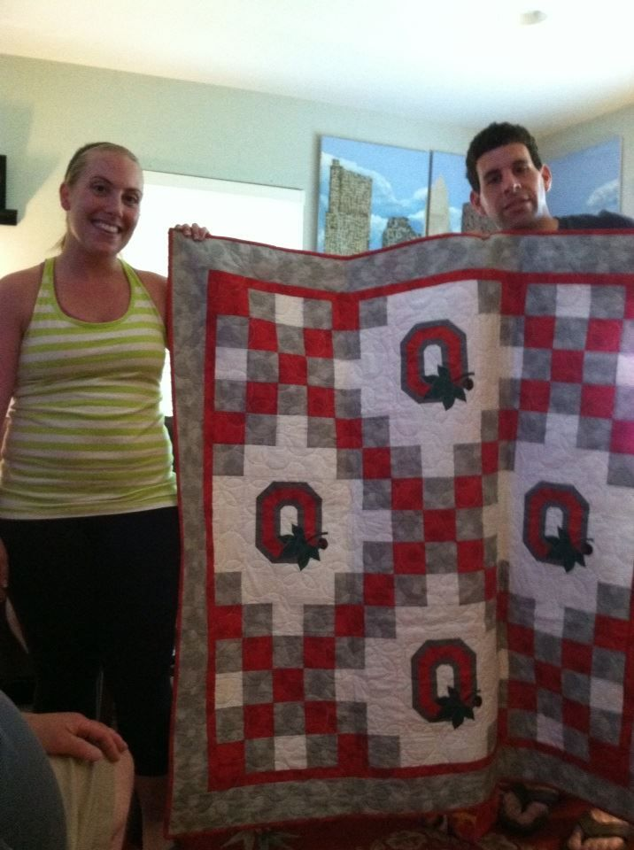 Andrew and Leah's OSU Wedding Lap Quilt