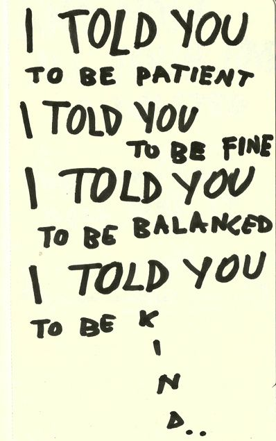 I told you to be ... #BonIver