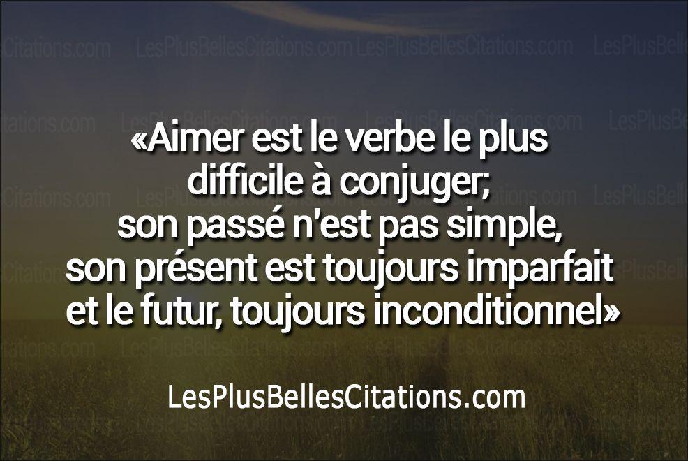 Citation : Le Verbe Aimer | Les Plus Belles Citations: Collection