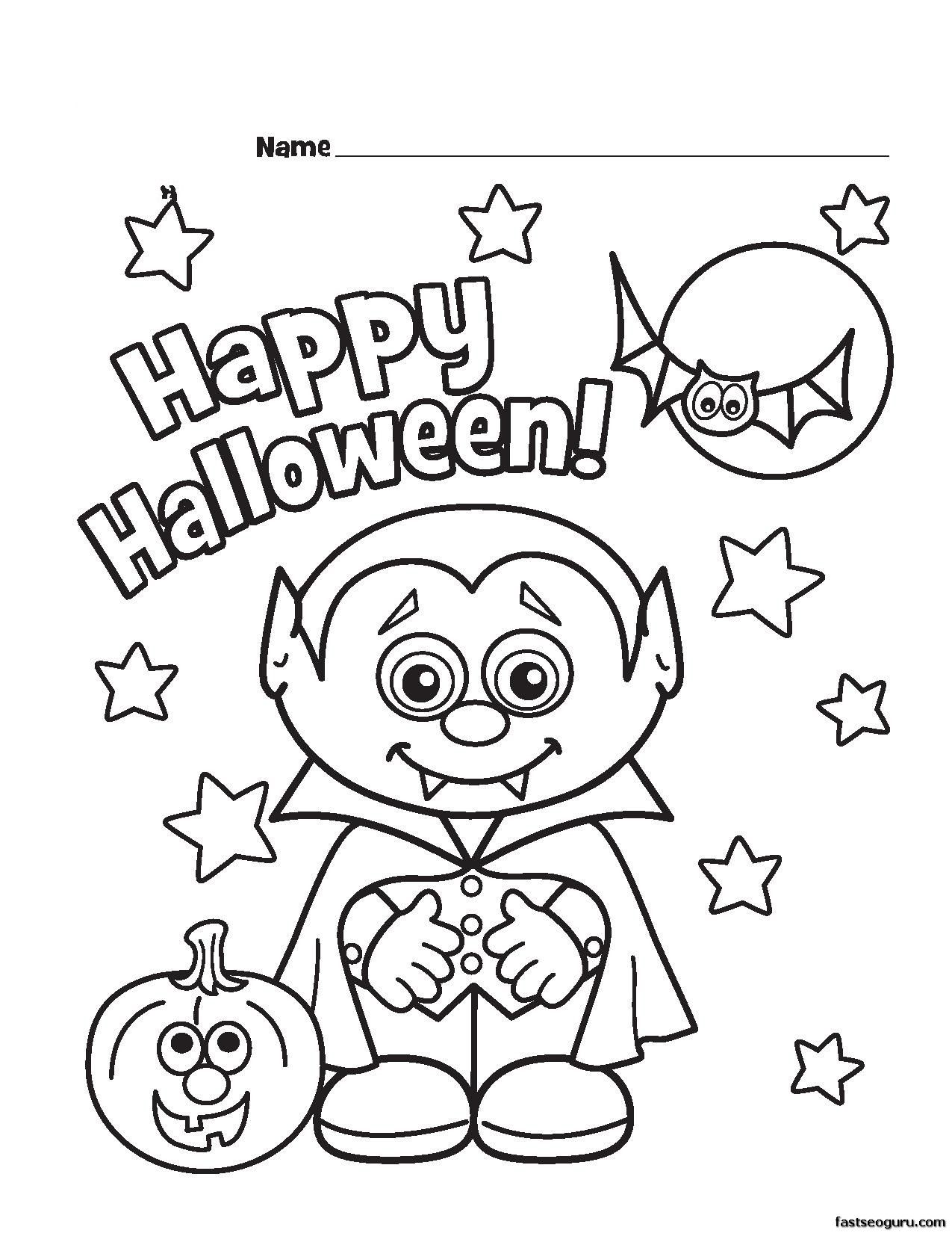 Free coloring pages for halloween - Halloween Vampire Coloring Pages Czfv Jpg 1275 1650