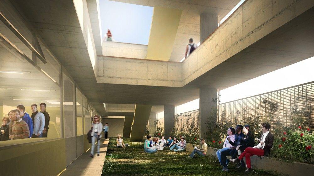 """Mención Concurso """"Hacia una Nueva Arquitectura Escolar"""" / Giordano + Eusebio + Fernández de Lema + Sánchez"""