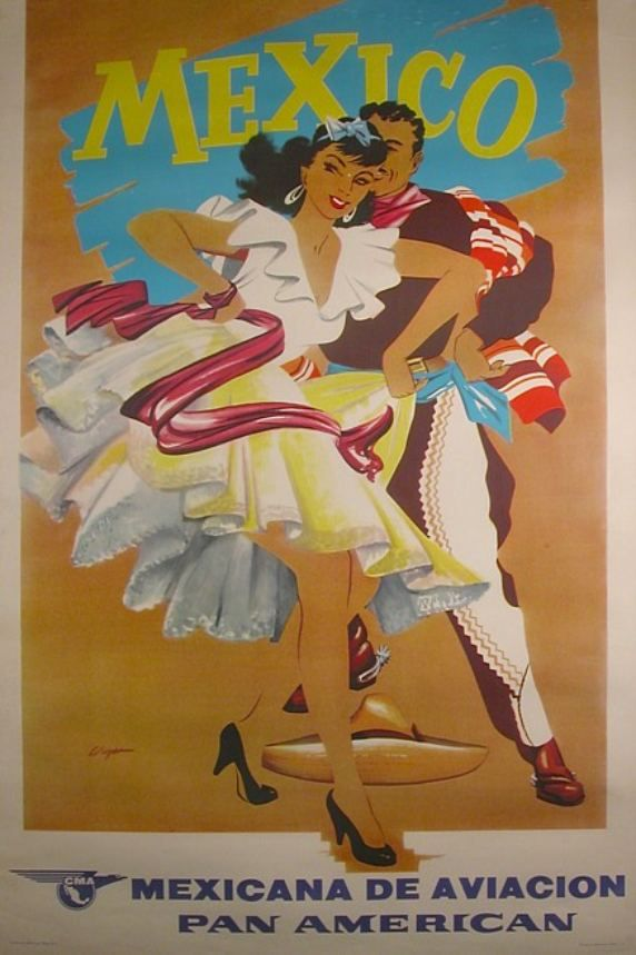 POSTER FASHION GIRLS SWIMSUIT BEACH IN PUERTO RICO TRAVEL VINTAGE REPRO FREE S//H