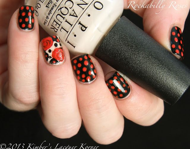 Rockabilly Nail Designs | this design! I think that this is one of my favorite nail art designs ...