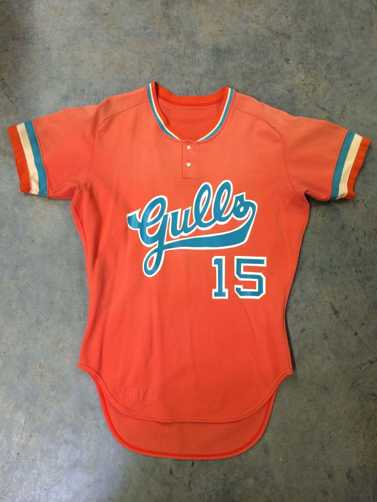 Salt Lake Gulls Game Worn Baseball Jersey Minor League Pcl Pacific Coast League Game Wear Baseball Jerseys Mlb Uniforms