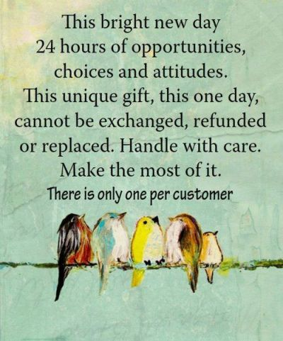 The Bright New Day 24 Hours Of Opportunities Choices And Attitudes
