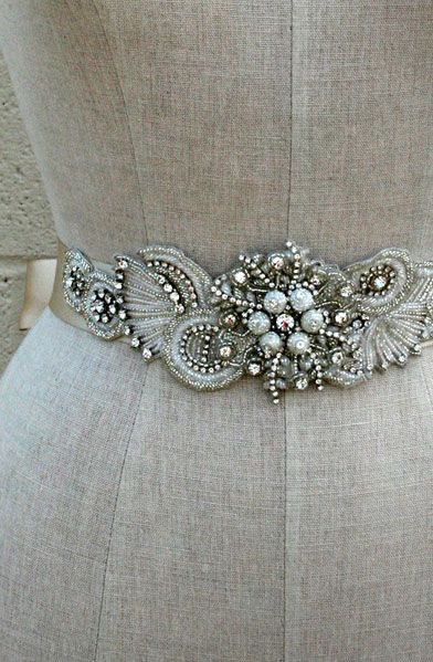 8c43a8cd6b Gorgeous vintage inspired sash from Erin Cole Follow Bride s Book for more  great inspiration.