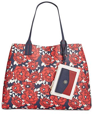 7a3f562f04e Tommy Hilfiger TH Reversible Tote - Tote Bags - Handbags & Accessories -  Macy's