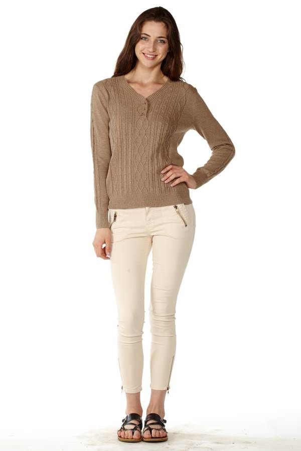 Get ready for #Fall with Sandy Pointelle Sweater #FreeShipping #OnlineShopping #Deals #Fashion