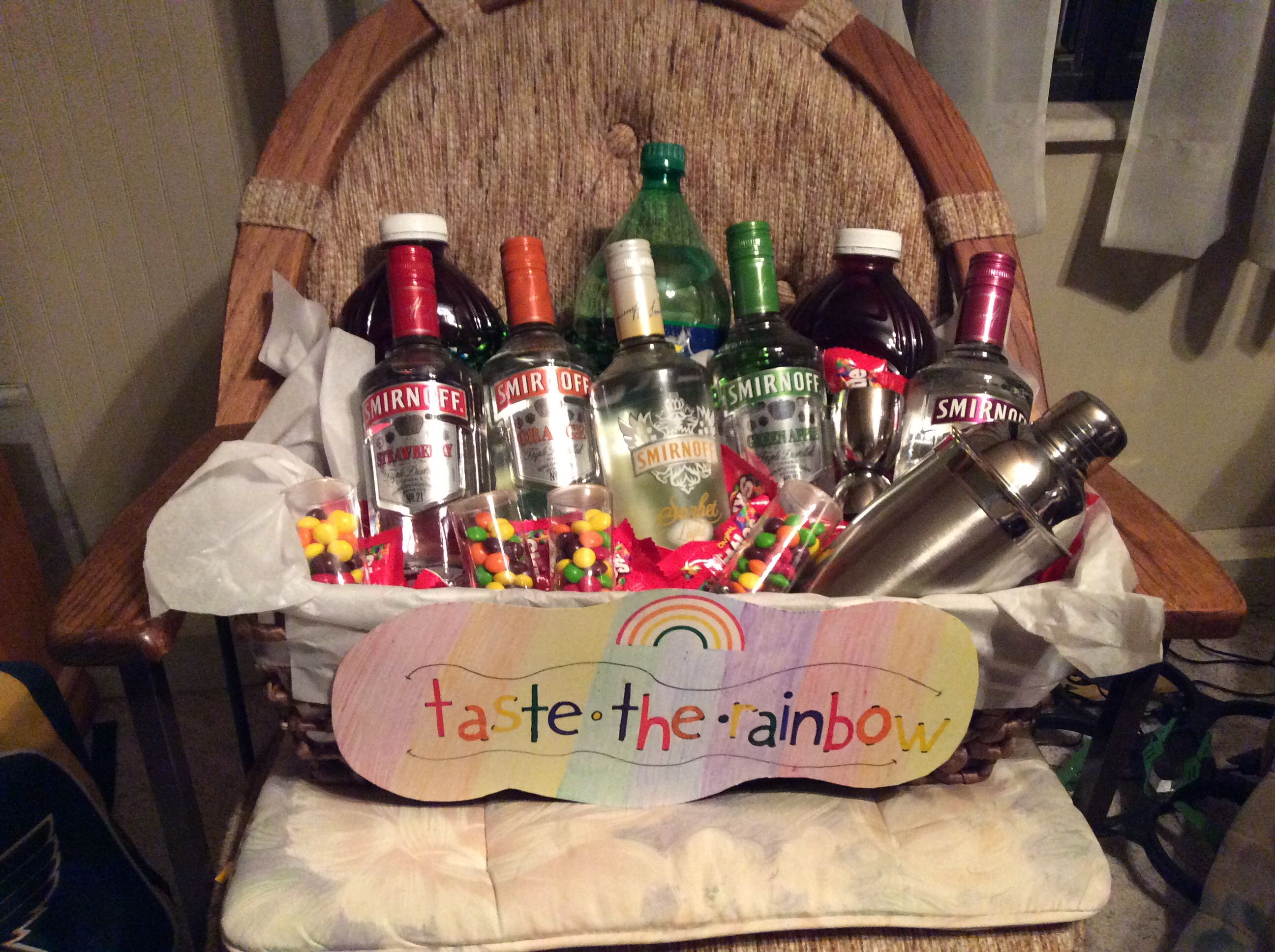 My Very Own Taste The Rainbow Basket Fundraiser Baskets Raffle Baskets Auction Basket