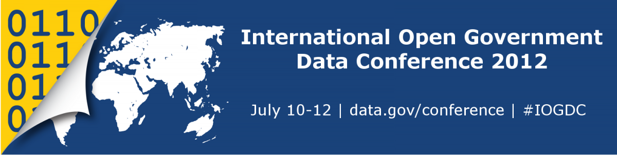 Follow the international Open Gov Conference right here !  http://live.worldbank.org/international-open-government-data-conference-2012-liveblog-webcast
