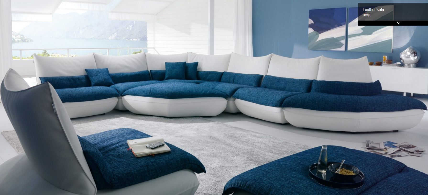 Divani chateau d ax leather sofa - Benji Sectional By Chateau D Ax Italy Shown As A Leather And Fabric