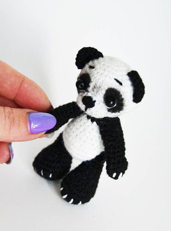 Ganchillo Amigurumi Panda panda oso Panda Amigurumi felpa de ...