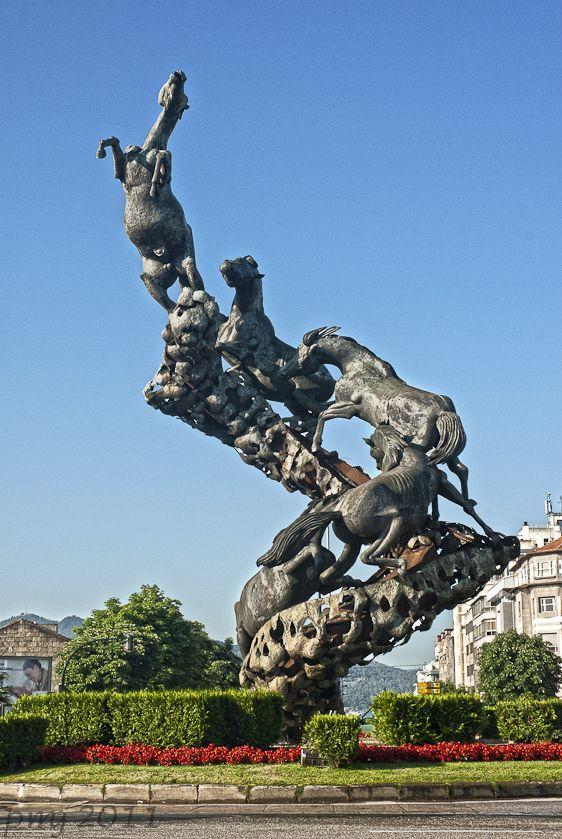 Vigo Escultura Viajes Lugares De España Vigo España