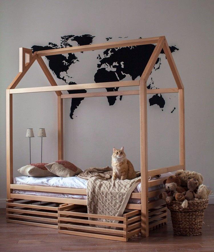 Fabriquer Un Lit Cabane Pour Les Petits Loulous Demonstration En Photos Lit Cabane Deco Chambre Enfant Lit Maison