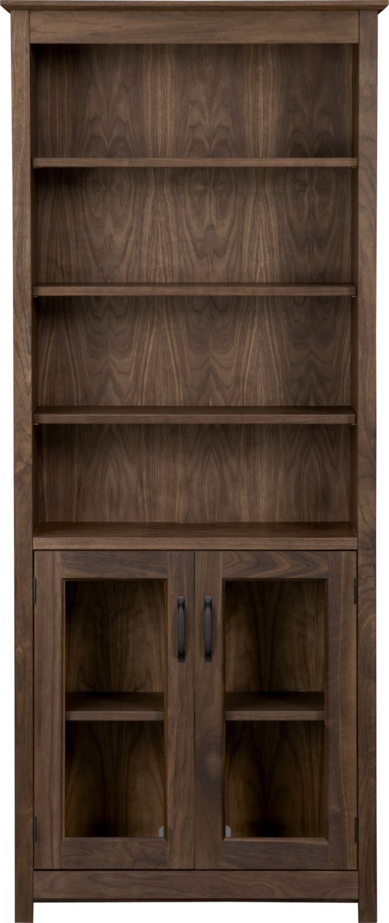 Ainsworth Walnut 30 Media Tower With Gl Doors Crate And Barrel