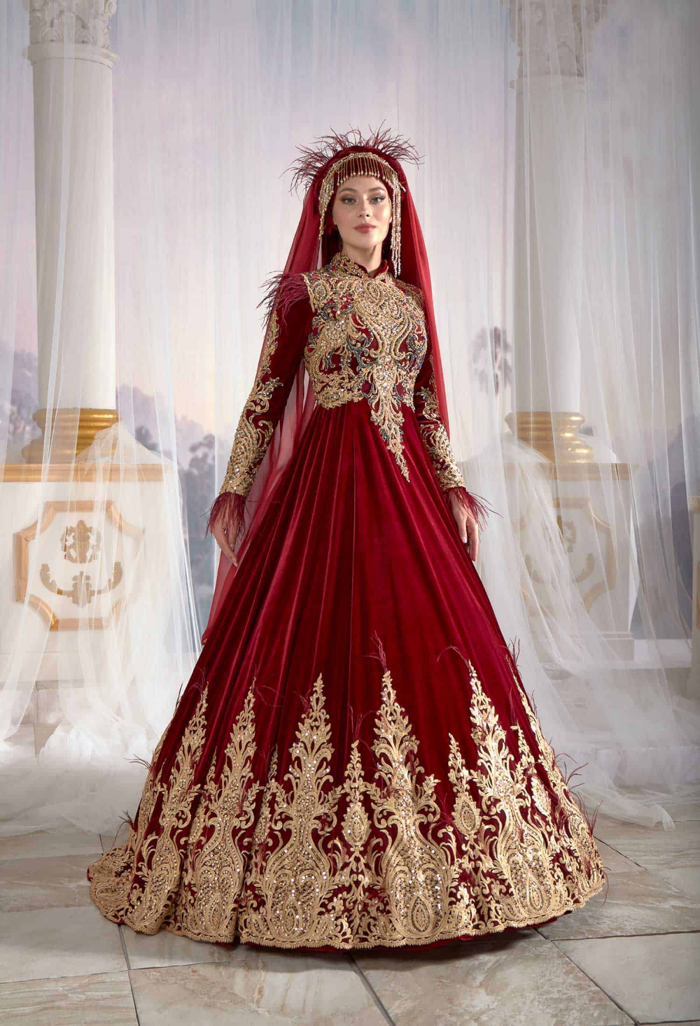 Pin by Beth Sparks on Traditional wear   Red bridal dress ...