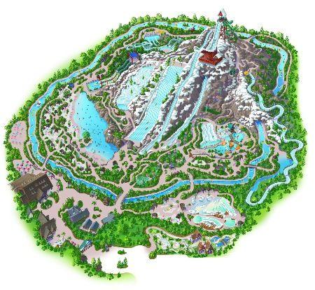 BLIZZARD BEACH -- View a detailed layout of Disney\'s Blizzard Beach ...