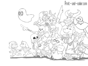 Undertale Coloring Pages Inspirational Coloring Pages Undertale