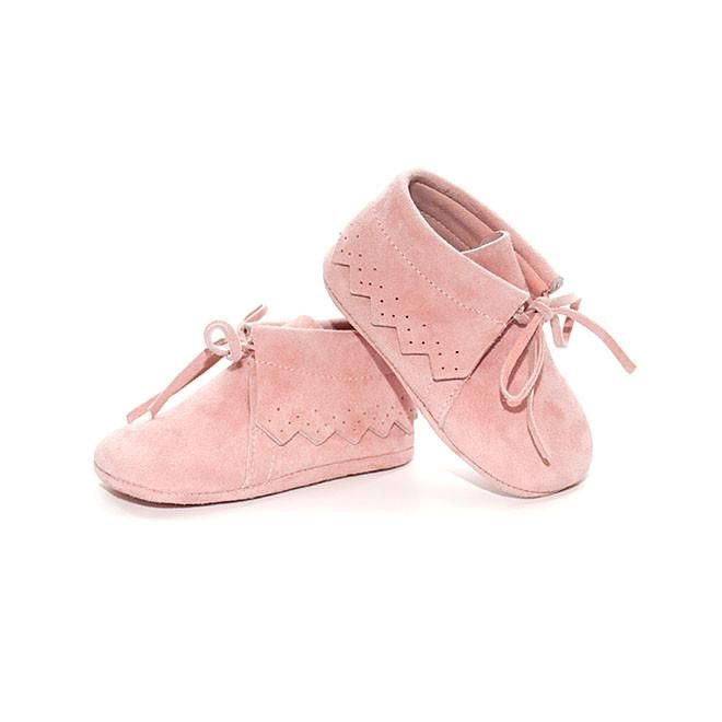 b0865795589 TNY Baby Boots - Suede Moccasins - Baby Pink - Sweet Peas Kidswear ...