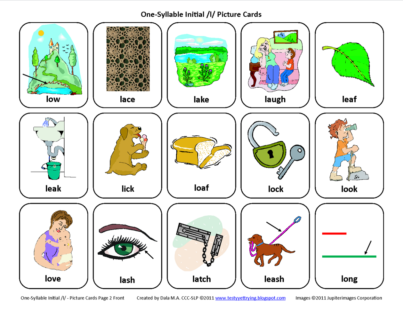 Description These Articulation Picture Card Sets Are