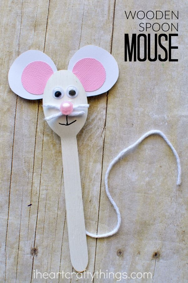 wooden spoon pig craft wooden spoon mouse craft for mouse crafts animal 5783