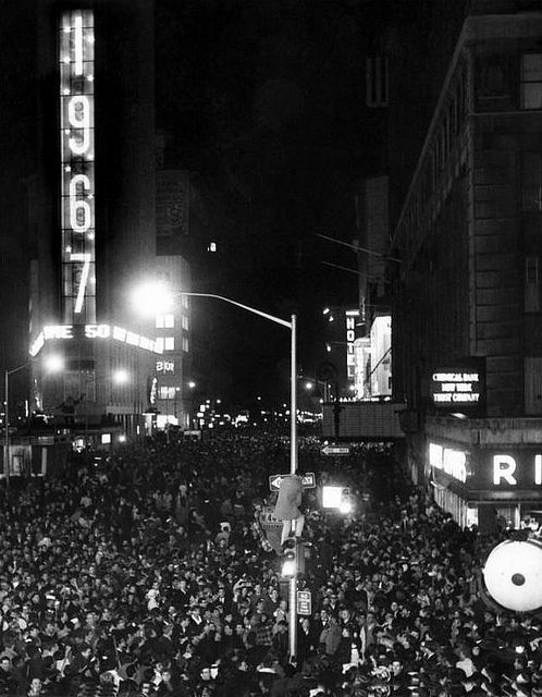 New Year S Eve Celebration In Times Square 1967 C Everett Nyc Times Square Times Square History New Year S Eve Celebrations