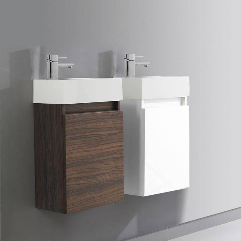 ZONE COMPACT Hangend Wastafel/Toiletmeubel Met Wasbak   400 X 635 X Tba    Wit