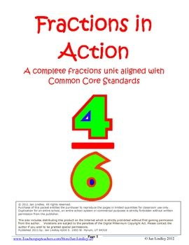 This fractions unit can stand alone or be used to supplement a textbook fractions unit.  The activities are varied, from individualized center act...