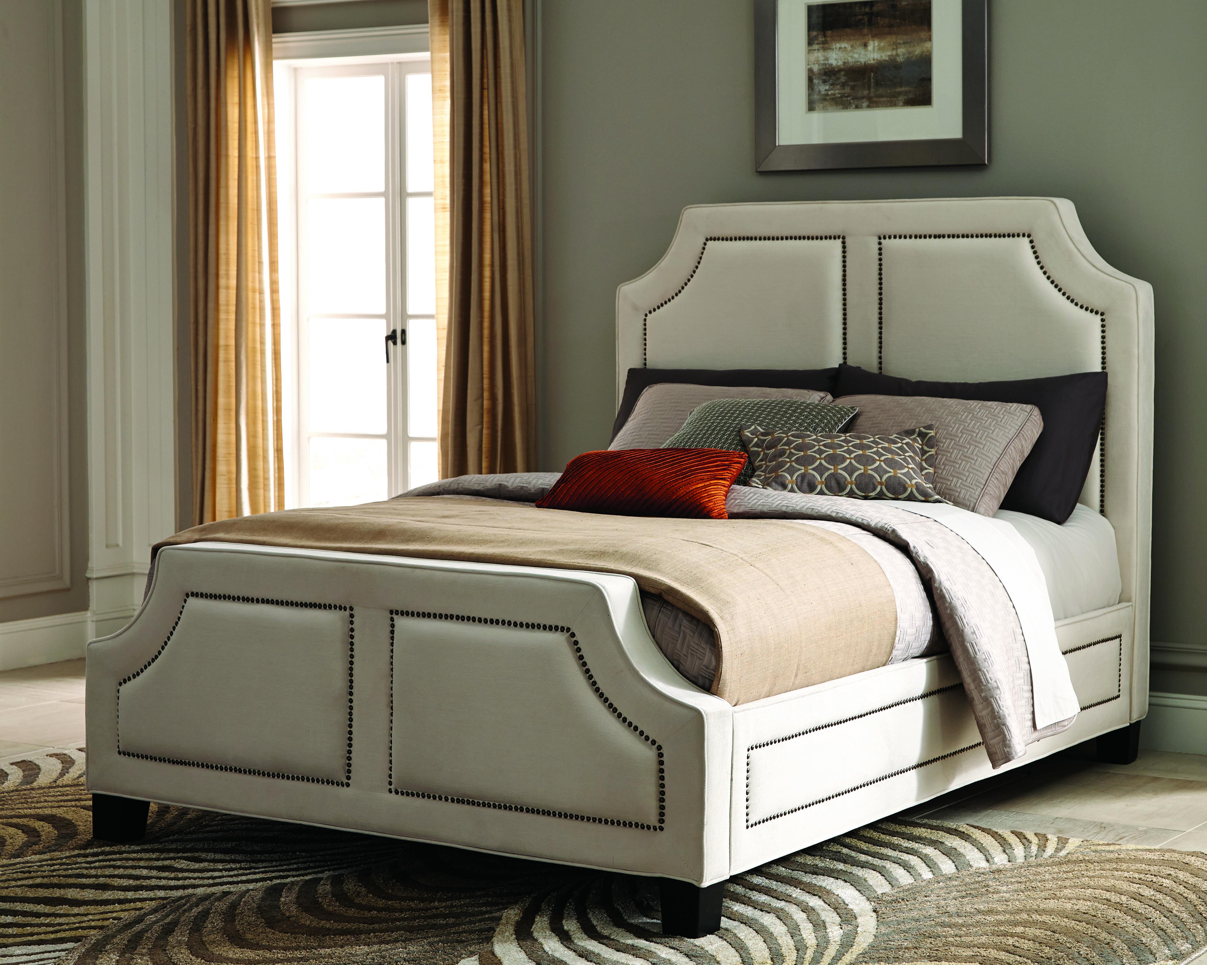 Bedroom // Donny Osmond Home White queen bed, King
