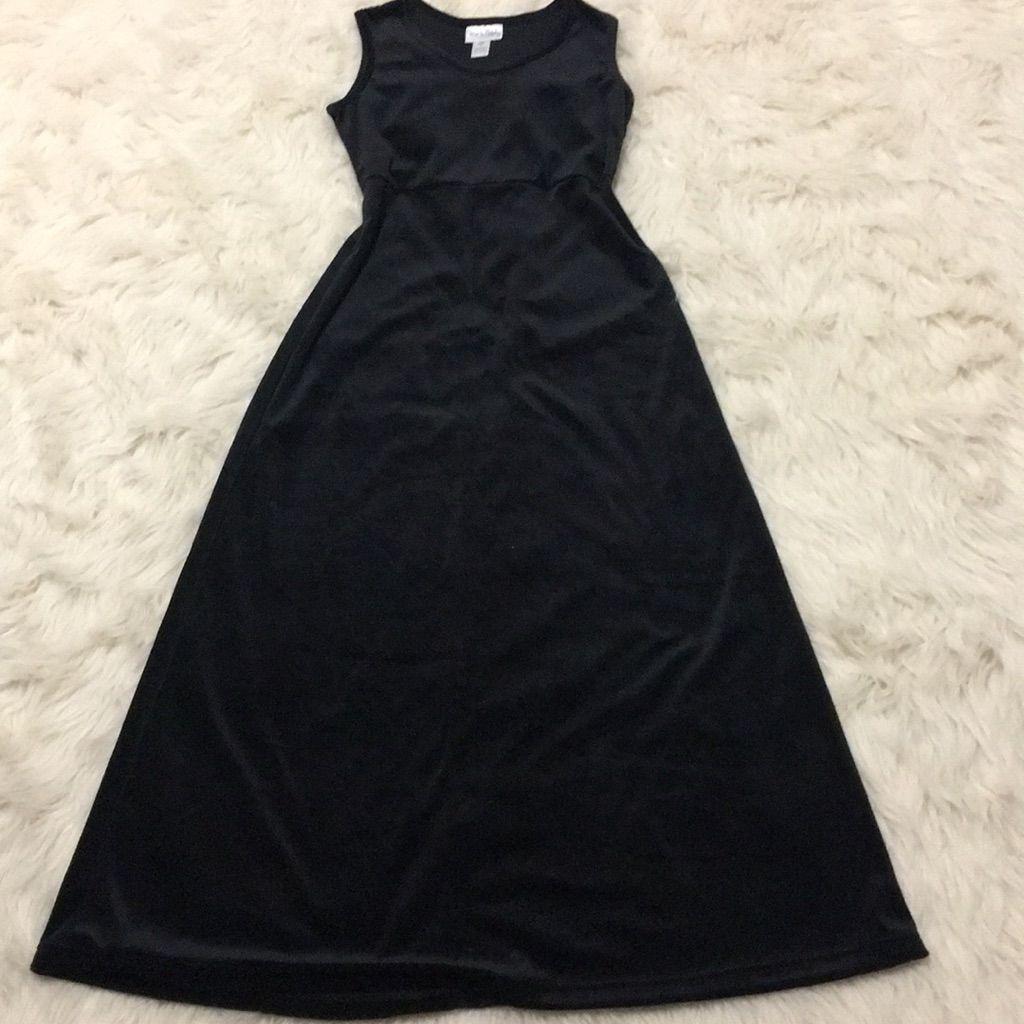 Diane Von Furstenberg Black Velveteen Maxi Dress  Diane von