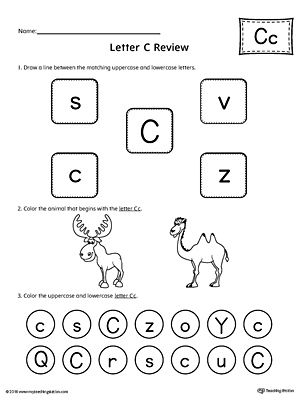 All About Letter C Printable Worksheet Printable worksheets