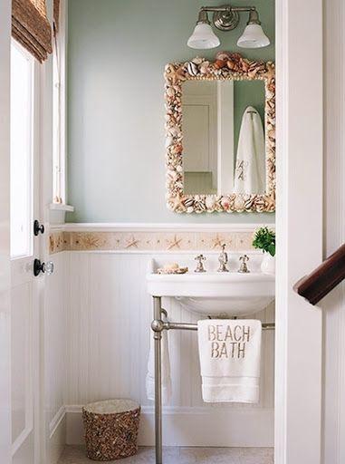 Beach Bathroom With Shell Decor