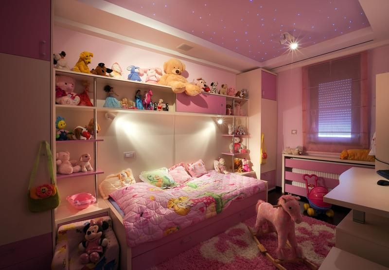 Kids Room Decorate With Soft Toys Plush And Of Their Imagination