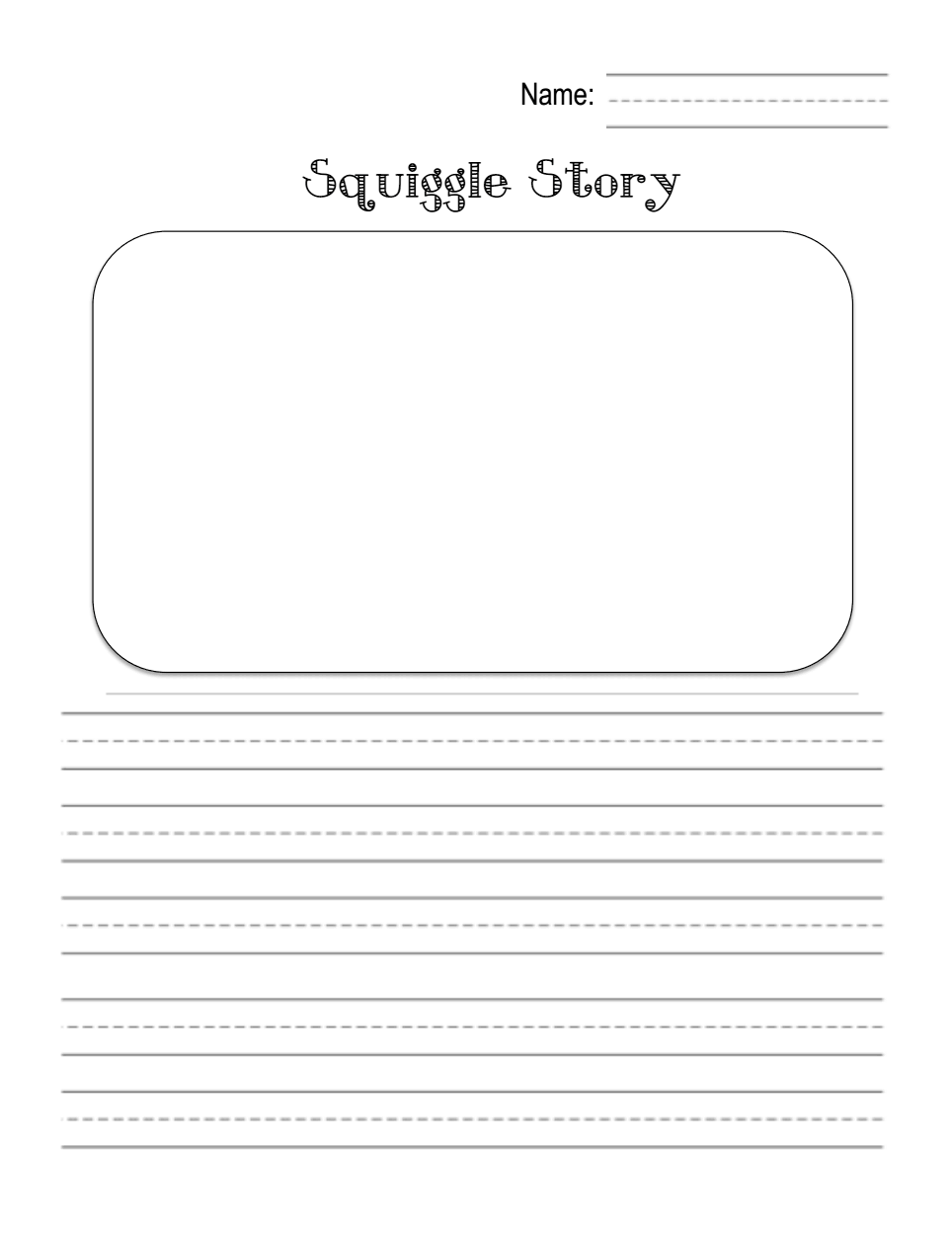 Workbooks squiggle art worksheets : Squiggle Story 1.pdf | All the Kindergarten Writing Ideas I want ...