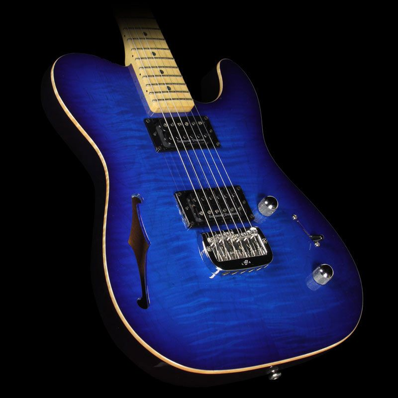 Used 2013 G&L USA ASAT Deluxe Semi-Hollow Electric Guitar Blueburst