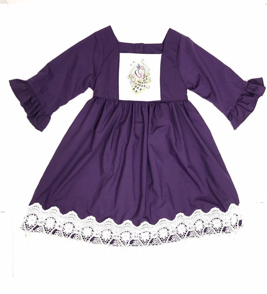 Addie Renee By Smocked A Lot Girls Size 4t Purple White Embroidered Dressy Dress Dressy Dresses Size Girls Dressy [ 1000 x 910 Pixel ]