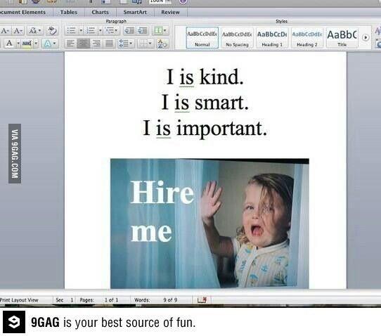 My resume.