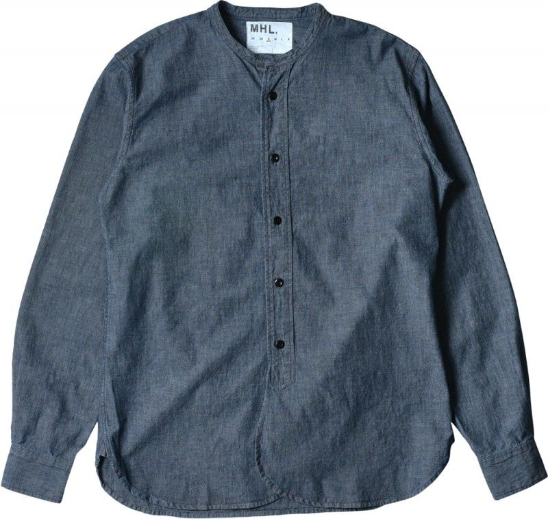 MARGARET HOWELL - MHL COLLARLESS SHIRT - SHIRTS - MEN | Men's ...