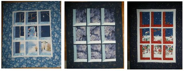 Fabric of My Life: Festival of small projects - Day 12 - I do love the 'window treatment.'