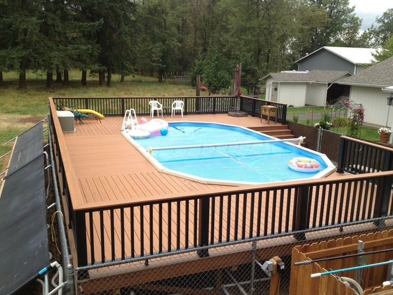 Above ground pool deck ideas free above ground pool deck for Deck from house to above ground pool