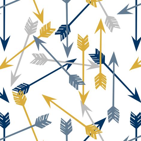 Colorful Fabrics Digitally Printed By Spoonflower Arrows Arrow Mustard Navy Grey Blue Kids Arrows Print Arrow Print Arrow Design Printing On Fabric