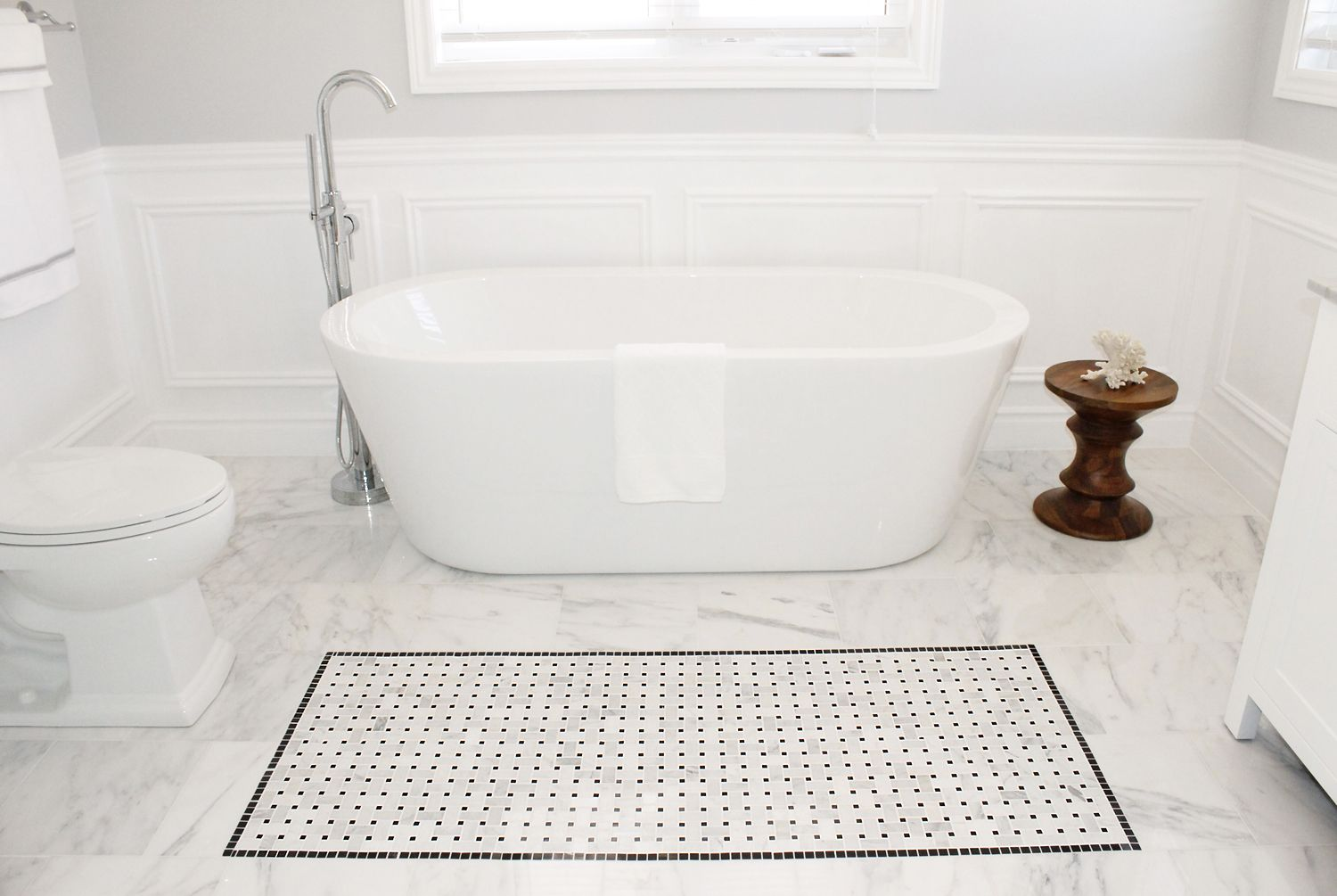 bathroom-fancy-white-bathroom-design-ideas-with-basketweave-marble ...