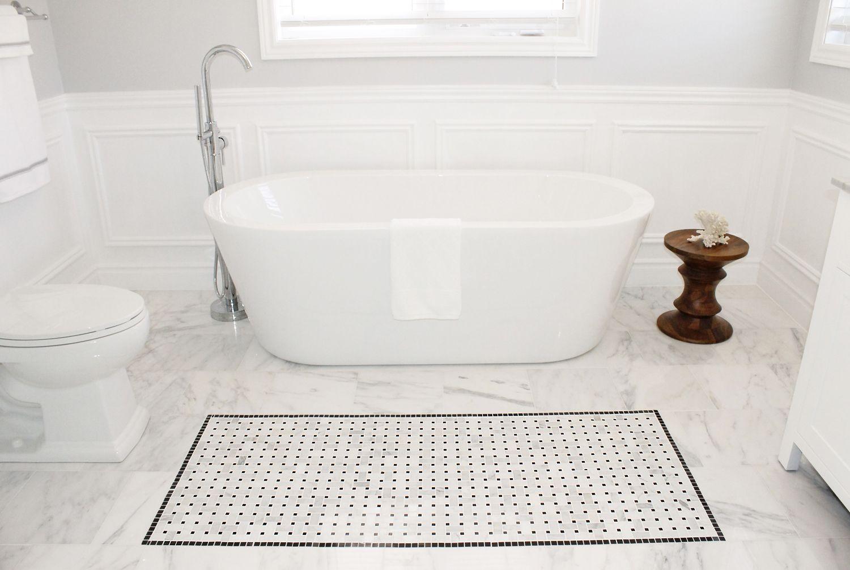 Marble Flooring Bathroom Polished Marble Tile Bathroom Floor Yes Yes Go