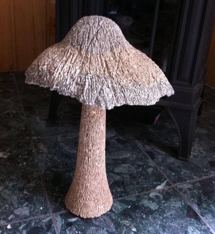 Brown And White Irish Mushroom Concrete Bird Bath Concrete Projects Yard Art