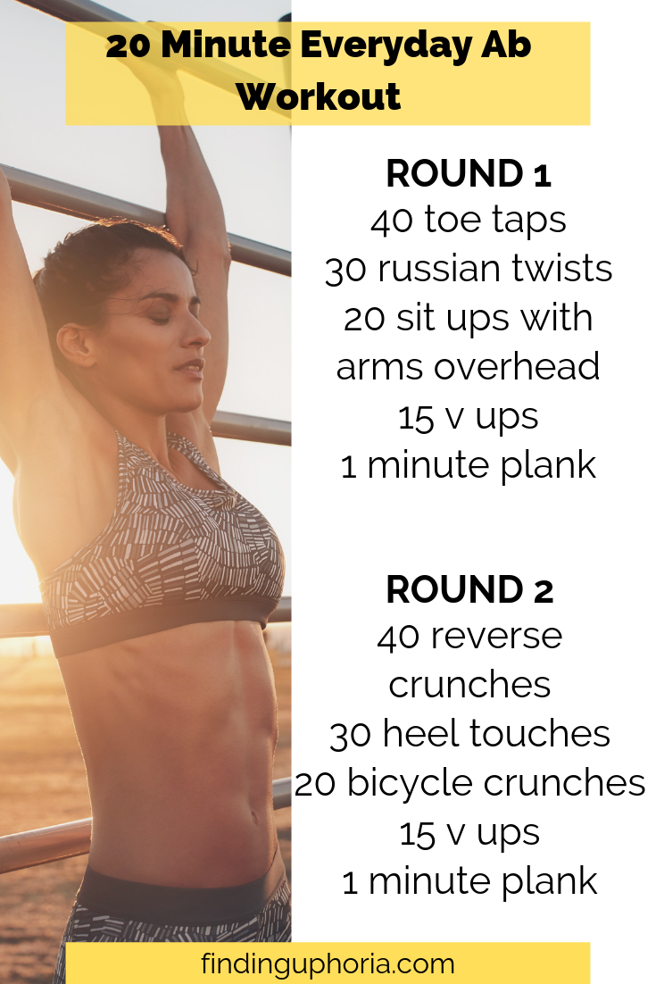 20 Minute Everyday Ab Workout – Finding Uphoria LLC