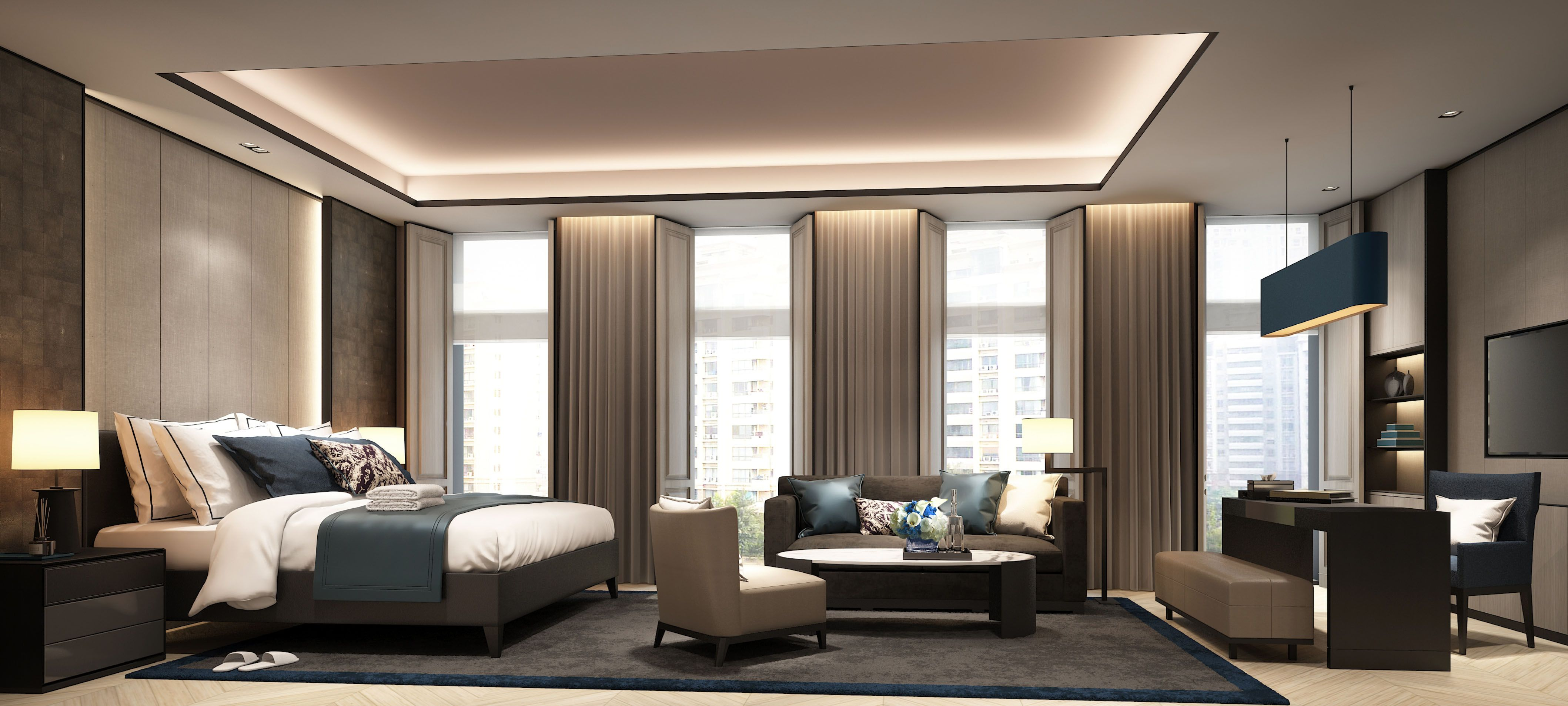 Bedroom Suite Designs Scda Hotel Development Gurgaon India Superior Guestroom  City