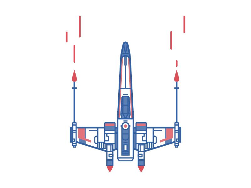 Calcomanía//Pegatina X-wing Fighter Star Wars