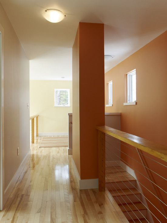 Orange Painted Kitchens use terracotta color for astounding ambiance: contemporary hall