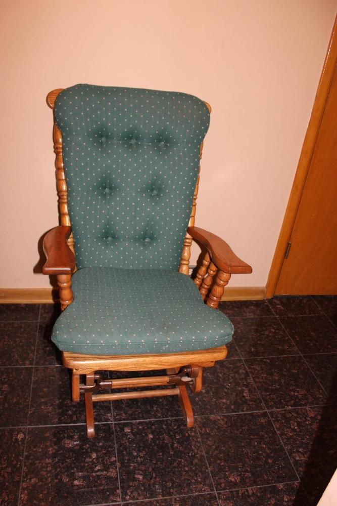 Solid Wood Rocker Glider Chair Towne Square Furniture