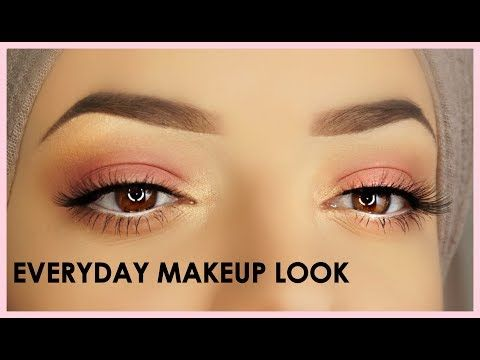 easy everyday eye makeup tutorial  abhxnorvina palette